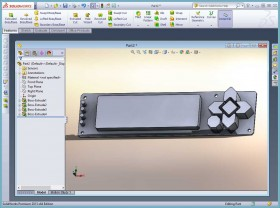 Simple SolidWorks Part for LCD Keypad