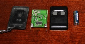 Disassembled remote with repaired PCD