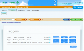 Vera ties home automation devices together with an attractive web based GUI.