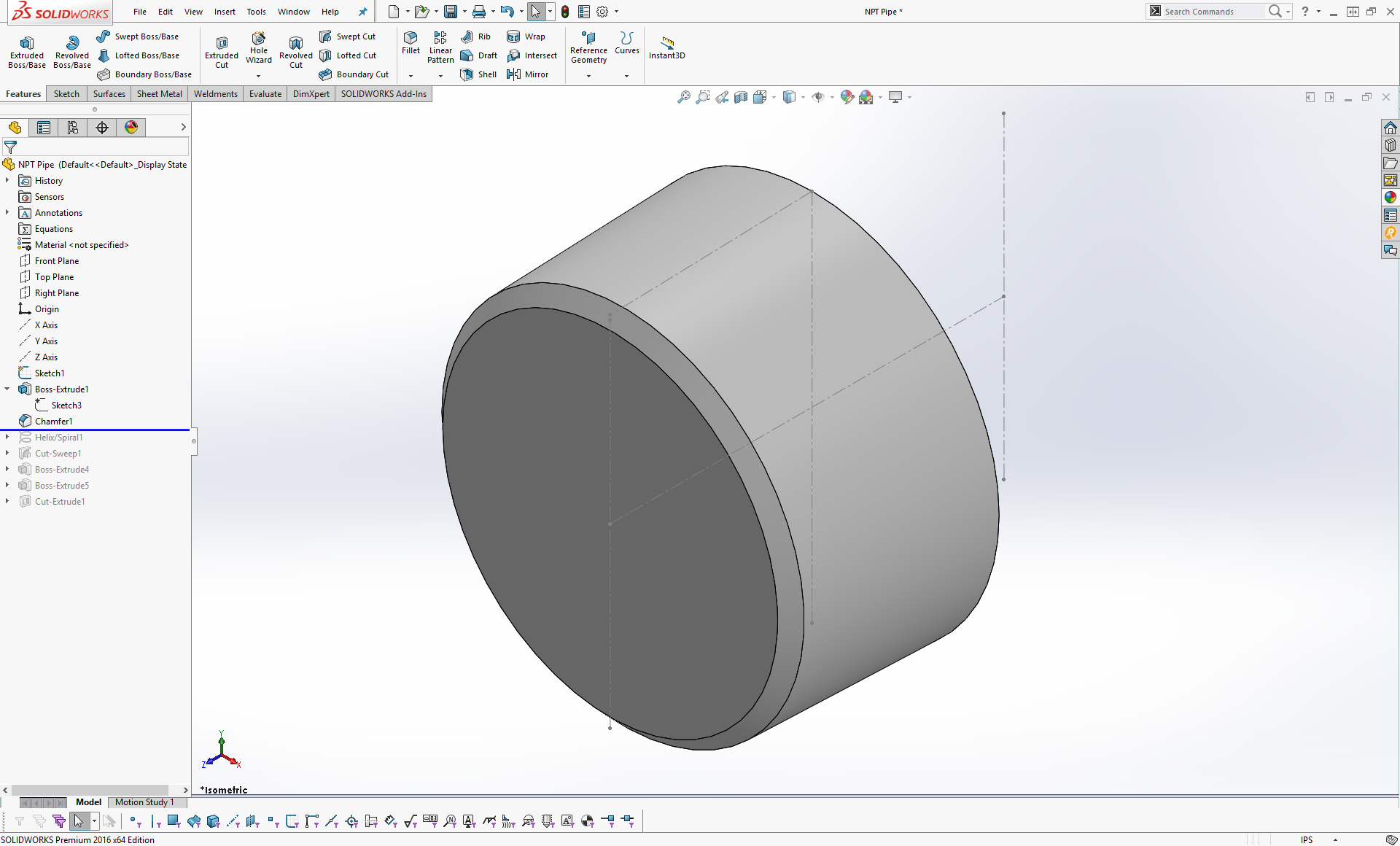 How to Model NPT Threads in Solidworks | Hardware, Software