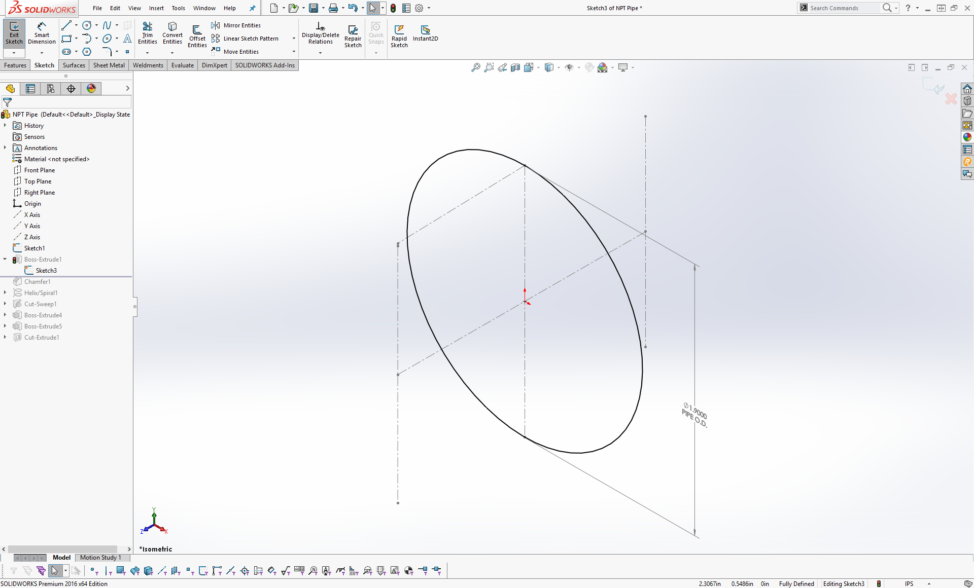 How to Model NPT Threads in Solidworks